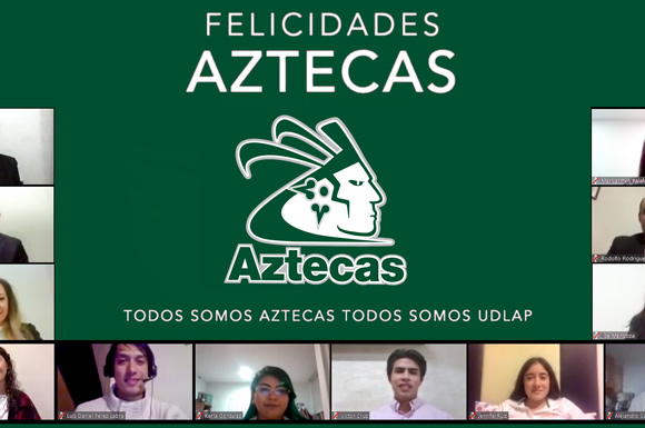 Los Aztecas UDLAP celebran a 11 de sus guerreros