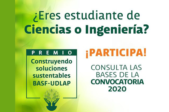 Se amplía plazo para la entrega de proyectos para el Premio BASF- UDLAP