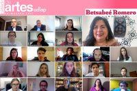 Betsabeé Romero imparte charla El arte contemporáneo en el Border Line, a estudiantes de la UDLAP