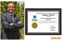Nombran a académico UDLAP como miembro Honorable del primer Capítulo Profesional IISE México